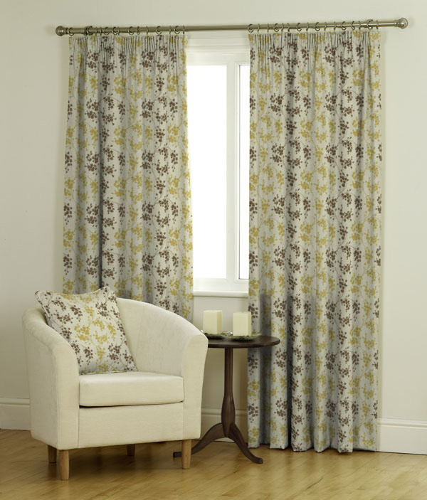 Dotterel BF Truffle Yellow Curtains