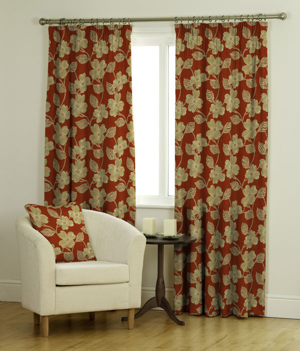 Magpie BF Coral Yellow Curtains