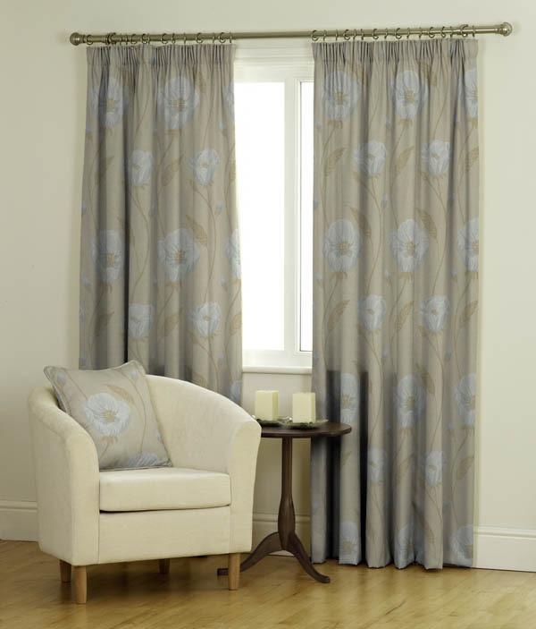 Merlin BF Azure Yellow Curtains