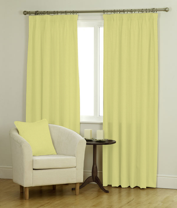Panama Curtains Blind In Lemon Quality Made To Measure Curtains