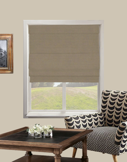 Panama Roman Blind In Caper Quality Made To Measure