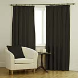 Ambassador Faux Suede Black Curtains