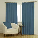Ambassador Faux Suede Cornflower Curtains