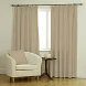 Ambassador Faux Suede Cream Curtains