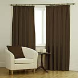 Ambassador Faux Suede Dark Brown Curtains
