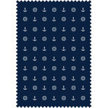 Anchors Dark Navy Blackout Blue Designer Blinds