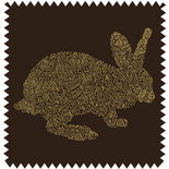 Bunny Black Blackout Blackout Designer Blinds