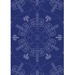 Crown Royal Blue Blackout Blue Designer Blinds