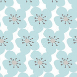 Jo Elise Flowers For Days Blackout Blue Designer Blinds