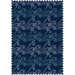 Ocean Wave Navy Blackout Blue Designer Blinds
