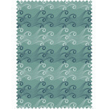 Ocean Wave Sea Green Blackout Blue Designer Blinds