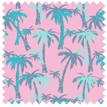 Rainforest Palm Trees Rose Quartz Blackout Blue Designer Blinds