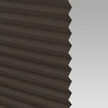Infusion Solar Chocolate Pleated Freehanging Blinds