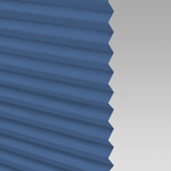 Infusion Solar Glacier Blue Pleated Freehanging Blinds