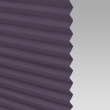 Infusion Solar Grape Pleated Freehanging Blinds