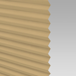 Infusion Solar Muted Gold Pleated Freehanging Blinds