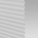 Infusion White Pleated Freehanging Blinds
