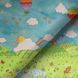 Nursery Rhymes Blackout Rainbow Red Roller Blinds