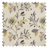 Adara Print Chartreuse Brown Roman Blinds