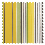 Allegra Mimosa Stripes & Checks Roman Blinds