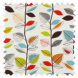 Autumn Leaves Cinnamon Roman Blinds