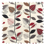 Autumn Leaves Red Berry Patterns & Designs Roman Blinds