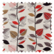 Autumn Leaves Red Berry Roman Blinds