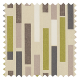 Azari Chartreuse Brown Roman Blinds