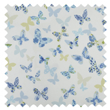 Butterfly Cornflower Blue Roman Blinds