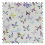 Butterfly Lavender Blue Roman Blinds