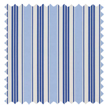 Deckchair Stripe Blue Thermal Energy Saving Roman Blinds
