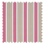 Deckchair Stripe Taupe Brown Roman Blinds
