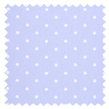 Dotty Powder Blue Thermal Energy Saving Roman Blinds