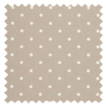 Dotty Taupe Brown Roman Blinds