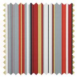 Henley Flame Stripes & Checks Roman Blinds