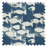 Shoal Indigo Blue Roman Blinds