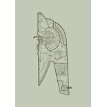 Slave Wireframe Grey Spaceship Blinds