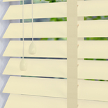 Congo 50 Taped Chalk Off-White with Pearl Tape White and Cream 50mm Wooden Blinds