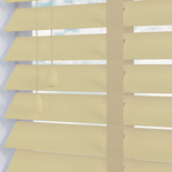 Congo 50 Taped Ecru with Pearl Tape White and Cream 50mm Wooden Blinds