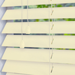 Congo 50 Chalk Off-White White and Cream 50mm Wooden Blinds