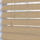 Congo 50 Neutral Wash White and Cream 50mm Wooden Blinds
