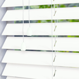 Congo 50 True White White and Cream 50mm Wooden Blinds