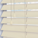 Deep Grain 50mm Cirrus White and Cream 50mm Wooden Blinds