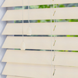 Faux Wood 50 Snow White and Cream 50mm Wooden Blinds