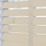 Fauxwood Grained Taped Mirage (cream) 50mm White and Cream 50mm Wooden Blinds