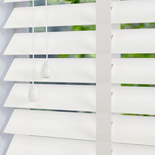 Fauxwood Grained Taped True (white) 50mm White and Cream 50mm Wooden Blinds