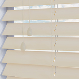 Fauxwood Grained Mirage (cream) 50mm White and Cream 50mm Wooden Blinds