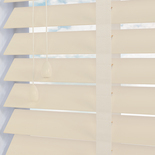 Fauxwood Smooth Taped Mirage (cream) 50mm White and Cream 50mm Wooden Blinds