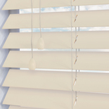 Fauxwood Smooth Mirage (cream) 50mm White and Cream 50mm Wooden Blinds