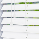 Fauxwood Smooth True (white) 50mm White and Cream 50mm Wooden Blinds